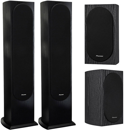 Pioneer A. Jones Designed 4` 2-Way Bookshelf Speakers (Pair)+Loudspeaker Bundle