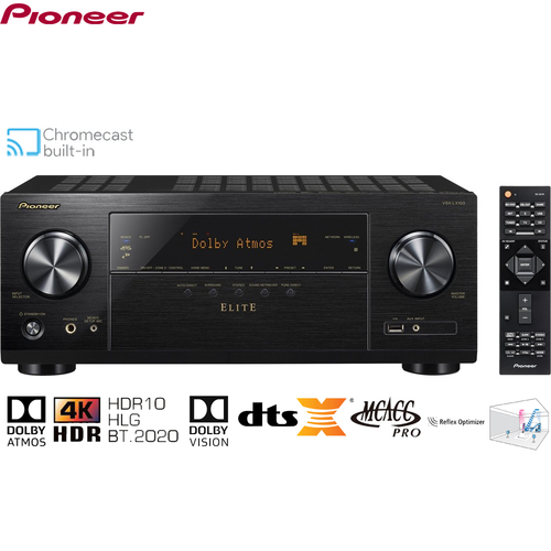 Pioneer Elite 7.2-Ch. Hi-Res 4K Ultra HD A/V Home Theater Receiver - Certified Refurbished