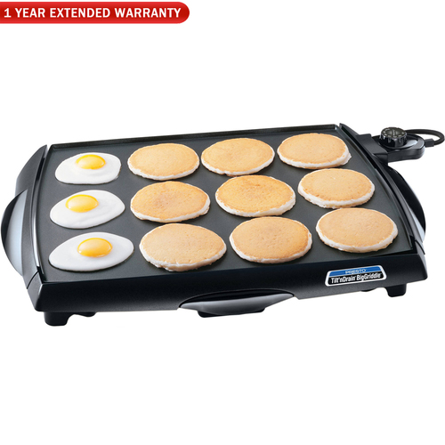 Presto Tilt 'n Drain Big Griddle Cool-Touch Electric Griddle w/ 1 Year Extended Warrant