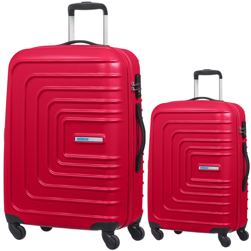 American Tourister 28` Hardside Spinner Luggage Red + 20` Spinner Luggage