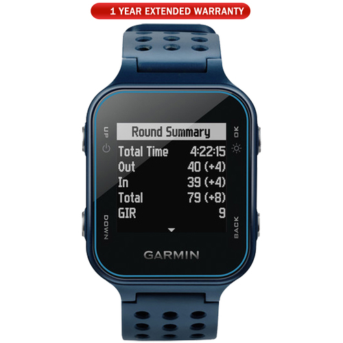 Garmin Approach S20 GPS Golf Watch Midnight Teal with 1 Year Extended Warranty
