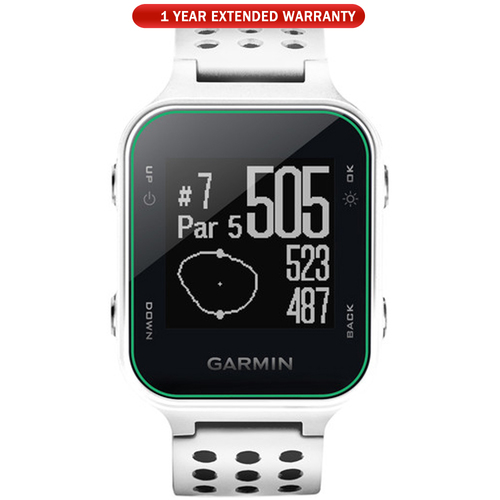 Garmin Approach S20 GPS Golf Watch White with 1 Year Extended Warranty