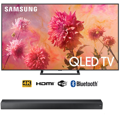 Samsung 65` Q9FN QLED Smart 4K UHD TV (2018) with Premium Soundbar Bundle