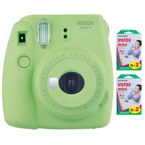 Fujifilm Instax Mini 9 Instant Camera - Lime Green w/ 40 Sheets Of Instant Film