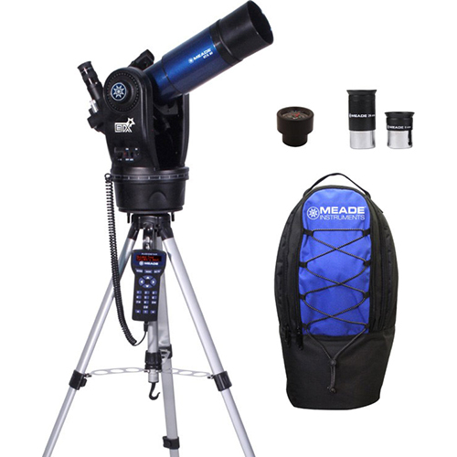 Meade ETX80 Observer Achromatic Refractor Telescope w/ Tripod, Eyepieces, and Backpack