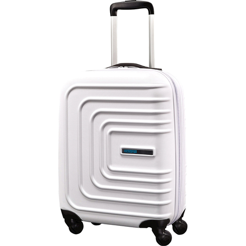American Tourister 24` Sunset Cruise Hardside Spinner Luggage, Cloud White - Open Box