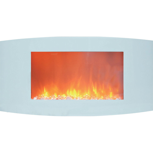 Cambridge 35  Curved Wall Mount Electric Fireplace with Crystals - Open Box