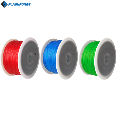 Flashforge 1.75 MM ABS Filament Assortment (Red, Green, Blue)
