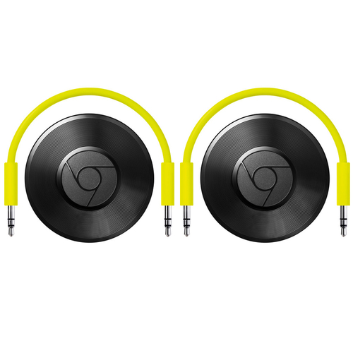 Google Chromecast Audio Black 2 Pack (GA3A00147-A14-Z01)