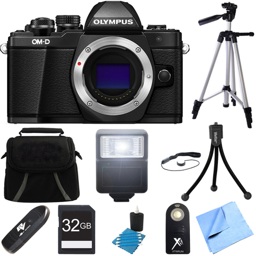 Olympus OM-D E-M10 Mark II Mirrorless Micro Four Thirds Digital Camera Black Body Bundle