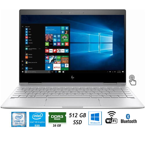 Hewlett Packard Spectre x360 13.3` FHD IPS 2-in-1 Core i7 Touch Laptop - (Certified Refurbished)