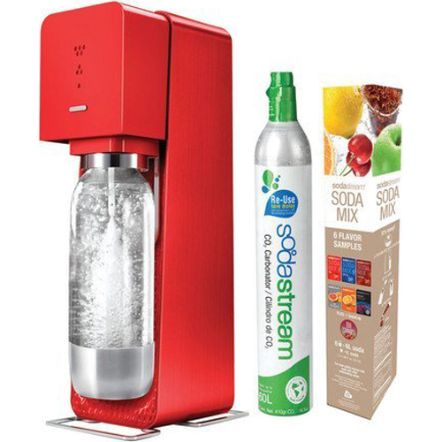 SodaStream Source Metal Edition Soda Maker Kit - Red
