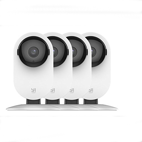 Image of YI 4pc 1080p Home Wireless IP Security System w/ Night Vision & Cloud Service