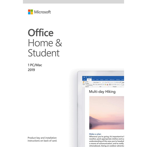 Office Home and Student 2019 Windows 10 PC/Mac Activation Card  - Damaged Box