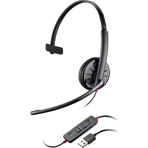 Plantronics Blackwire 315 USB Headset On-Ear Mono Headset Wired - 204440-101