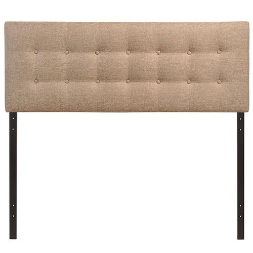 Modway Emily Queen Upholstered Fabric Headboard in Beige