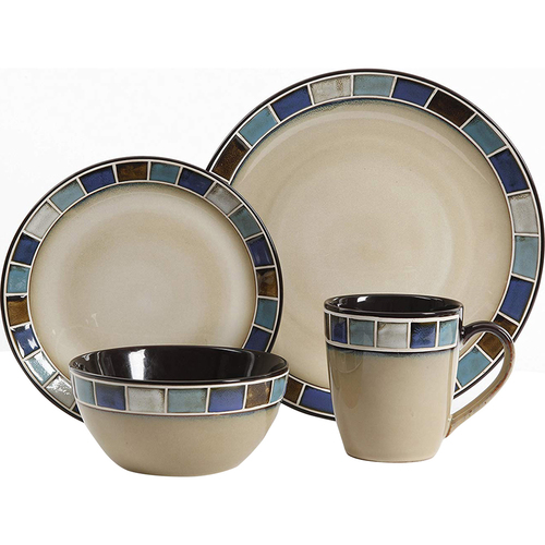 Gibson Azul 16PC DinnerWare Set