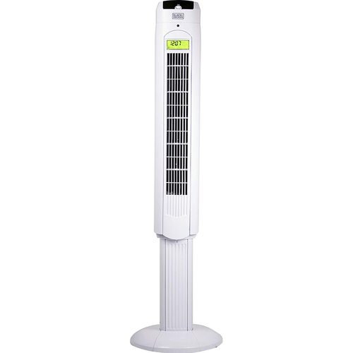 Black & Decker 48` Tower Fan with Remote, White