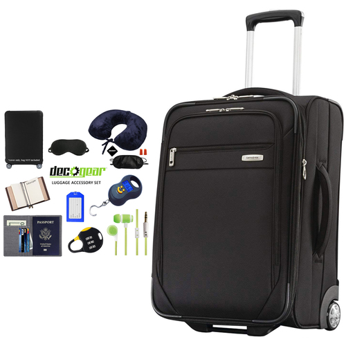 Samsonite Advena Wheeled Expandable 21-Inch Spinner Luggage + Accessory Kit