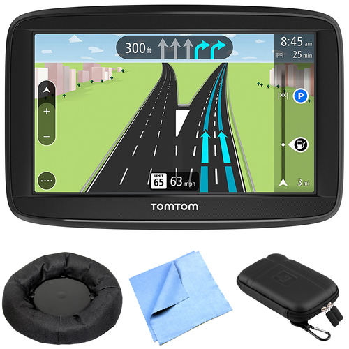 TomTom Via 1425M 4` Portable GPS Navigator w/ Lifetime Maps + Dash-Mount Bundle