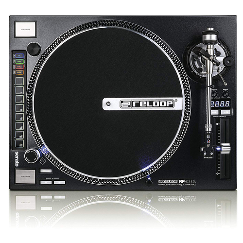Reloop Advanced Hybrid Torque MIDI Turntable with Straight Tone Arm AMS-RP-8000-STR