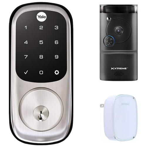 Yale Locks Assure Lock Touchscreen with Z-Wave (YRD226) Smart Front Door Bundle
