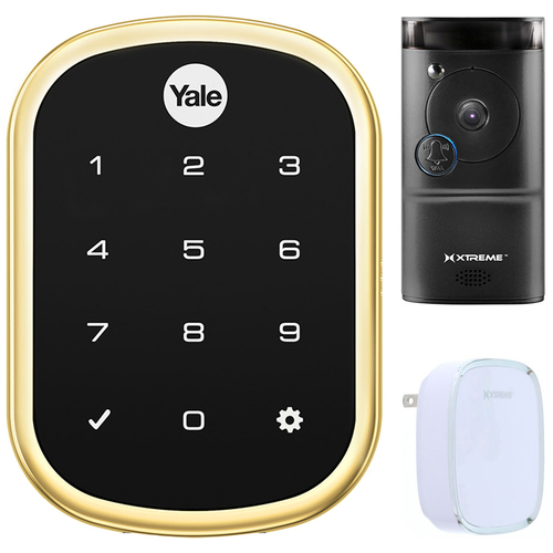 Yale Locks Assure Lock SL w/ iM1 - HomeKit Enabled Lock Smart Front Door Bundle