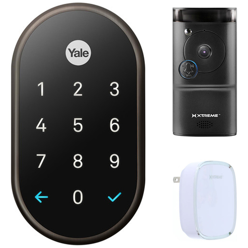 Nest x Yale Lock with Nest Connect (Oil Rubbed Bronze) Smart Front Door Bundle