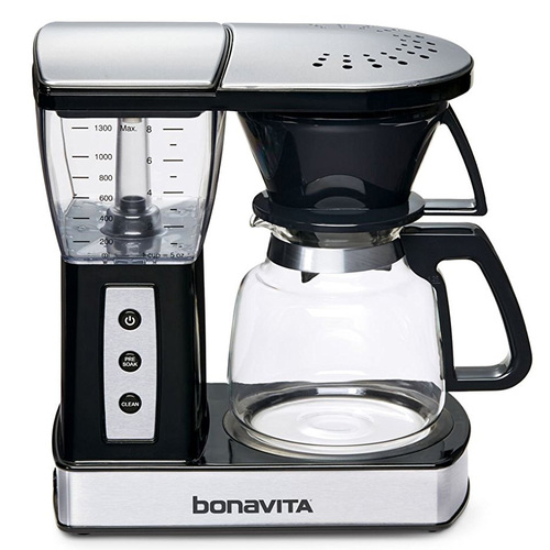 Bonavita 8-Cup Glass Carafe Coffee Brewer with Warming Plate BV01002US