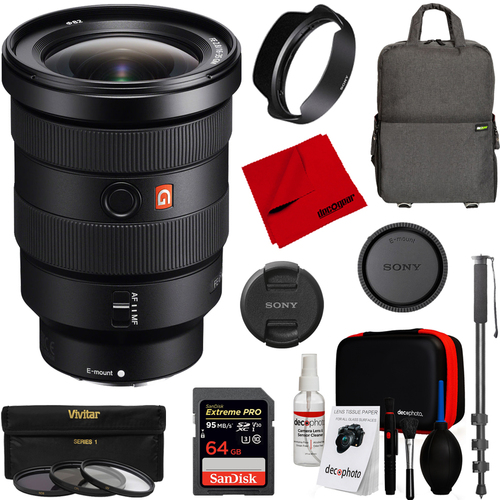 Sony FE 16-35mm F2.8 GM Wide angle Zoom Full-Frame E-Mount Camera Accessory Kit