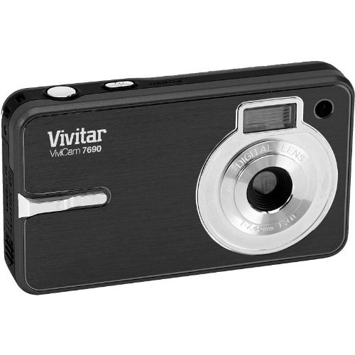 Vivitar V7690 Compact Digital Camera Black 7.1MP (VIVV7690BLK)