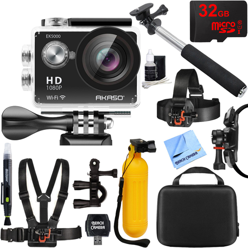 Akaso EK5000 1080P Sports Action Camera Full HD Cam 12MP WiFi Waterproof Outdoor Kit