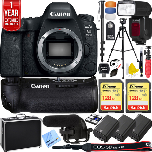 Canon EOS 6D Mark II DSLR Body + Over $700 in Free Accessories