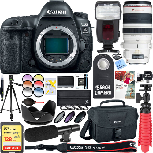Canon EOS 5D Mark IV 30.4MP Digital SLR Camera with EF 28-300mm IS L USM Lens Bundle