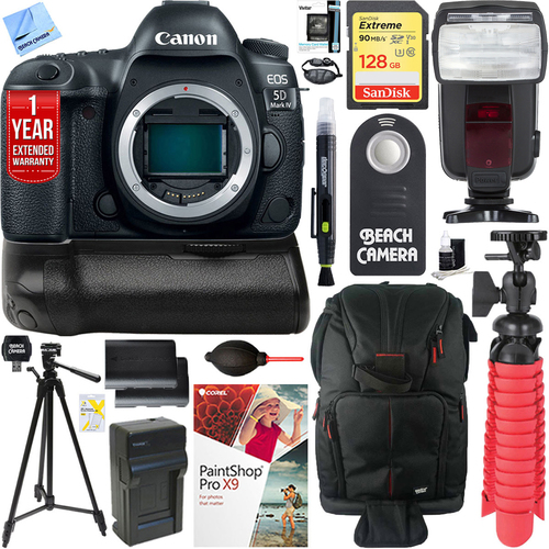 Canon EOS 5D Mark IV 30.4 MP DSLR Camera (Body Only) & Canon BG-E20 Battery Grip Kit