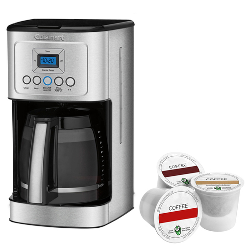 Cuisinart Perfect Temp 14-Cup Programmable Coffeemaker Stainless Steel + K-Cup Pack