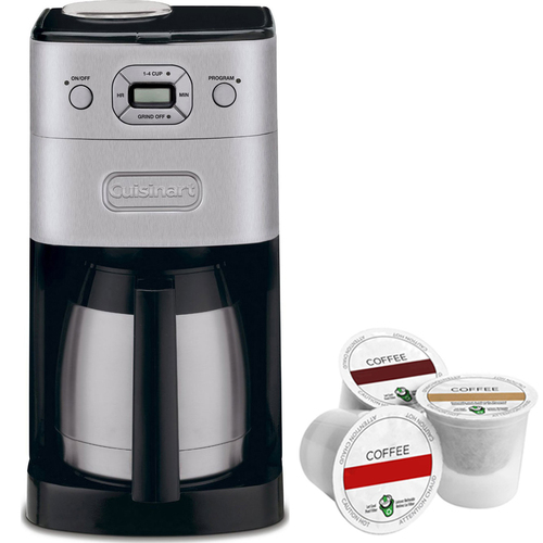 Cuisinart Grind & Brew Thermal 10 Cup Automatic Coffeemaker + K-Cup Pack