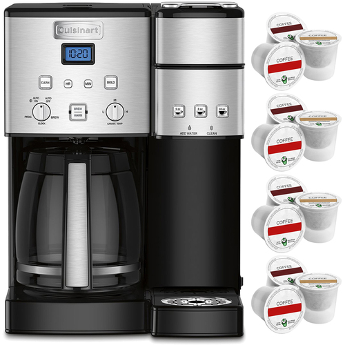Cuisinart SS-15 12-Cup Coffee Maker & Single-Serve Brewer Stainless Steel+12K-Cup Pack