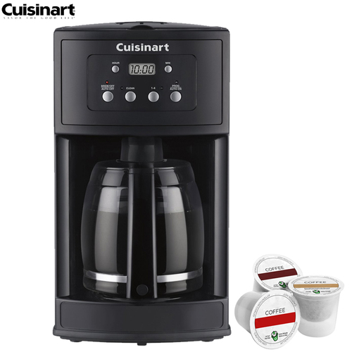 Cuisinart DCC-500 12-Cup Programmable Coffeemaker Refurbished w/Asst K Cup Sample Pack