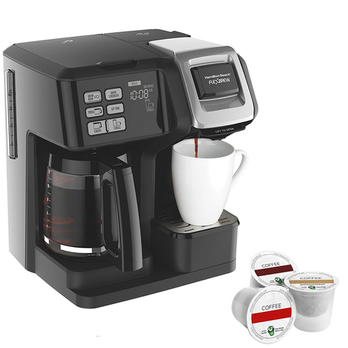 Hamilton Beach FlexBrew 2-Way Brewer Programmable Coffee Maker with 12 Assorted K Cup Samplers
