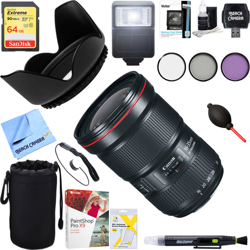 Canon EF 16-35mm f/2.8L III USM Ultra Wide Angle Zoom Lens + 64GB Ultimate Kit