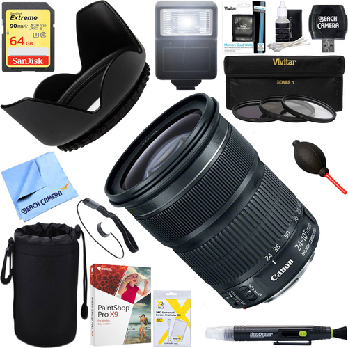 Canon EF 24-105mm f/3.5-5.6 IS STM Camera Lens  + 64GB Ultimate Kit
