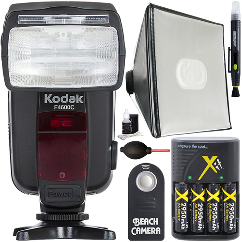 Kodak F4600C Flash E-TTL 18-180 Power Zoom for Canon Cameras + Deluxe Diffuser Bundle