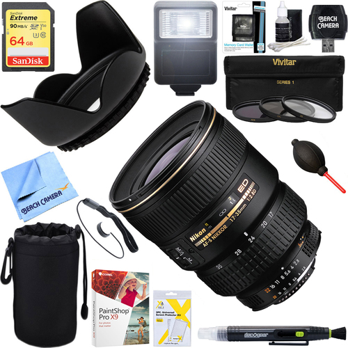Nikon 17-35mm F/2.8D ED-IF Zoom-Nikkor AF Lens + 64GB Ultimate Kit
