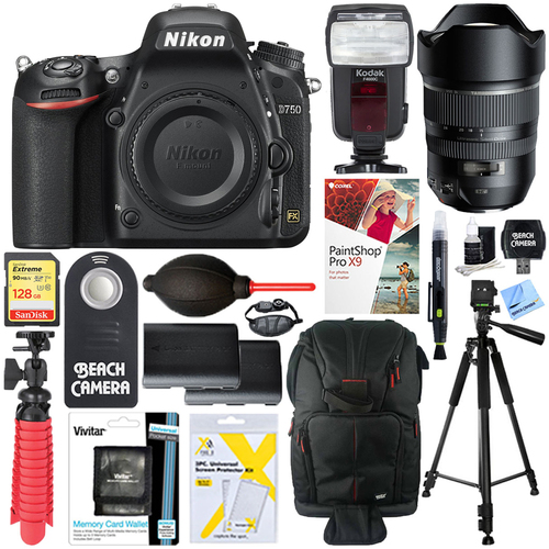 Nikon D750 24.3MP DSLR Camera + Tamron SP 15-30mm Di VC USD Zoom Lens Accessory Kit