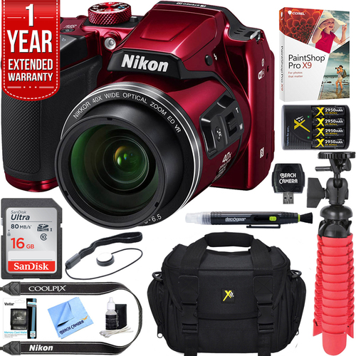Nikon COOLPIX B500 16MP 40x Optical Zoom Digital Camera - Refurbished + 16GB Bundle
