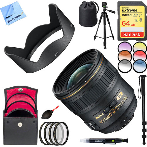 Nikon 24mm F/1.4G ED AF-S Wide-Angle Lens with 64GB Filter Sets Bundle
