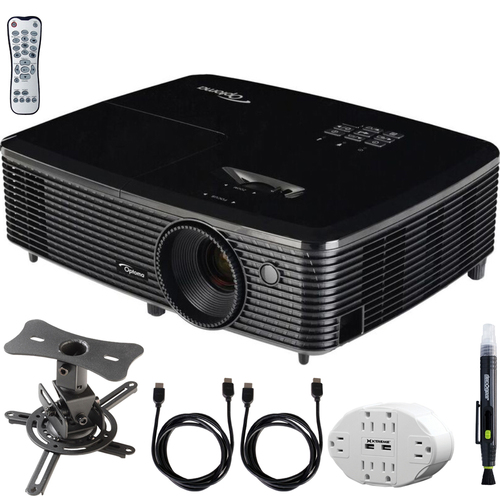Optoma HD143X Full HD 1080p 3D DLP Home Theater Projector w/ Mount Bundle