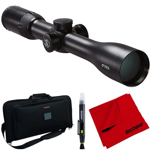 Styrka S7 Series 3-12x42 PLEX Scope (ST-95020) w/ Side Focus + Accessory Bundle