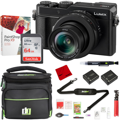 Panasonic LUMIX DC-LX100 II Point and Shoot Digital Camera with 64GB Camera Bag Bundle